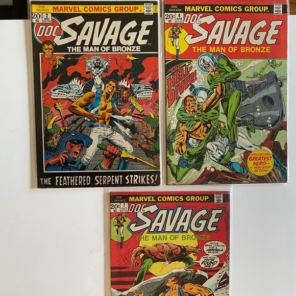 Doc Savage #2 + #4 + #7